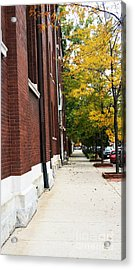 Familair Streets To An Old Women Acrylic Print by Jamie Lynn