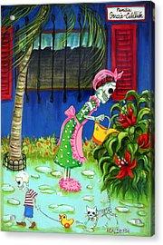 Familia Garcia Calderon Acrylic Print by Heather Calderon