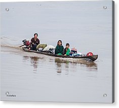 Family Boat On The Amazon Acrylic Print