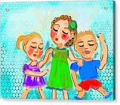 Family Fun Acrylic Print by Elaine Lanoue