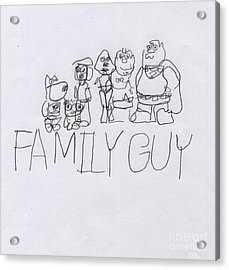 Family Guy Pencil Sketch Acrylic Print by Vincent Gitto
