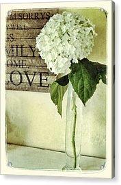 Family, Home, Love Acrylic Print