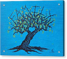 Acrylic Print featuring the drawing Family Love Tree by Aaron Bombalicki