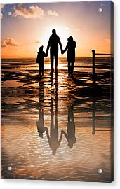 Family Reflections Acrylic Print by Tom Gowanlock