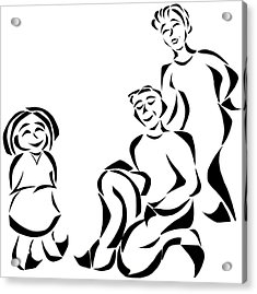 Family Time Acrylic Print by Delin Colon