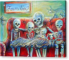 Acrylic Print featuring the painting Family Time by Heather Calderon