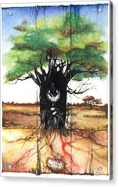 Acrylic Print featuring the mixed media Family Tree by Anthony Burks Sr