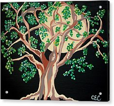 Acrylic Print featuring the painting Family Tree by Carolyn Cable