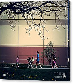 Family Walk To The Park Acrylic Print