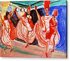 Famous French Cancan Acrylic Print