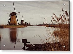 Famous Windmills At Kinderdijk, Netherlands Acrylic Print