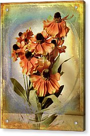 Fanciful Floral Acrylic Print by Jessica Jenney
