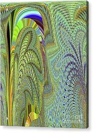 Fancy Dancer Acrylic Print by Ann Johndro-Collins