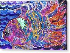 Fancy Fish On A Monday  Acrylic Print by Anne-Elizabeth Whiteway