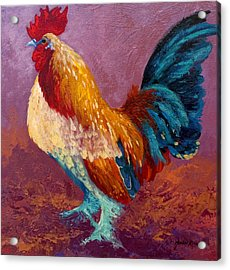 Fancy Pants - Rooster Acrylic Print by Marion Rose