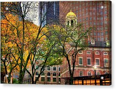 Faneuil Hall In Fall - Boston Scenes Acrylic Print