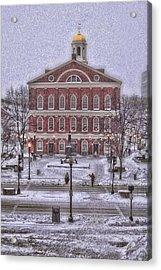 Faneuil Hall Snow Acrylic Print