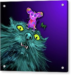 Fang And Meep  Acrylic Print by DC Langer