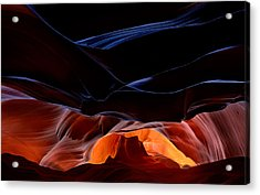 Fantastic Scenery Of Antelope Canyon Acrylic Print