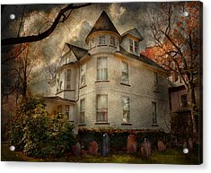 Fantasy - Haunted - The Caretakers House Acrylic Print by Mike Savad