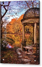 Fantasy - The Temple Acrylic Print by Mike Savad