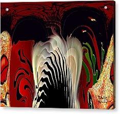 Fantasy Abstract Acrylic Print by Natalie Holland