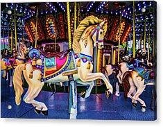 Fantasy Carrousel Horse Ride Acrylic Print