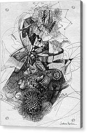 Fantasy Drawing 2 Acrylic Print by Svetlana Novikova
