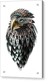 Acrylic Print featuring the painting Fantasy Eagle by Sassan Filsoof