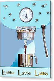Acrylic Print featuring the painting Fantasy Espresso Machine by Marian Cates