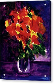 Fantasy Flowers  #107, Acrylic Print by Donald k Hall