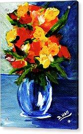 Fantasy Flowers #117 Acrylic Print by Donald k Hall