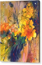 Fantasy Flowers Acrylic Print