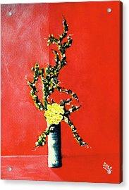 Fantasy Flowers Still Life #162 Acrylic Print by Donald k Hall