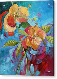 Fantasy Garden  Acrylic Print by Linda Monfort