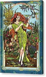Fantasy Gardening Acrylic Print by Robin Birrell