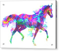 Acrylic Print featuring the painting Fantasy Horse by Elinor Mavor