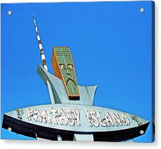 Acrylic Print featuring the photograph Fantasy Island Sign by Matthew Bamberg