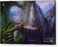 Acrylic Print featuring the painting Fantasy Land by Rosario Piazza