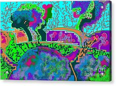 Fantasy Landscape Acrylic Print by Beebe  Barksdale-Bruner