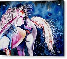 Fantasy Acrylic Print by Maria Barry