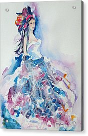 Acrylic Print featuring the painting Fantasy Mist by Mary Haley-Rocks