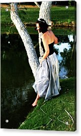 Fantasy Princess And The Pond Acrylic Print
