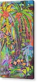 Fantasy Rainforest Acrylic Print by Lyn Olsen