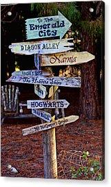 Fantasy Signs Acrylic Print by Garry Gay