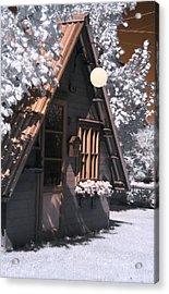 Fantasy Wooden House Acrylic Print by Helga Novelli