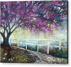 Acrylic Print featuring the painting Fantasy Tree by Emery Franklin