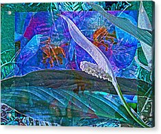 Fantasy With African Violets And Peace Lily 42 Acrylic Print