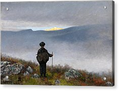 Acrylic Print featuring the painting Far Far Away Soria Moria Palace Shimmered Like Gold by Theodor Kittelsen