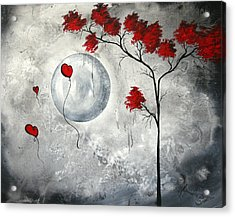 Far Side Of The Moon By Madart Acrylic Print by Megan Duncanson